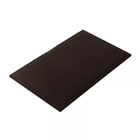 Rectangular chopping board in black HPL