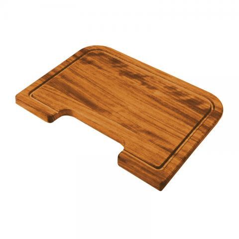 Shaped rectangular iroko chopping board