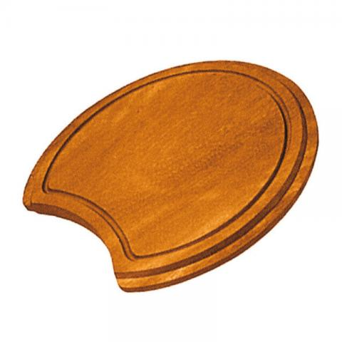 Round iroko chopping board